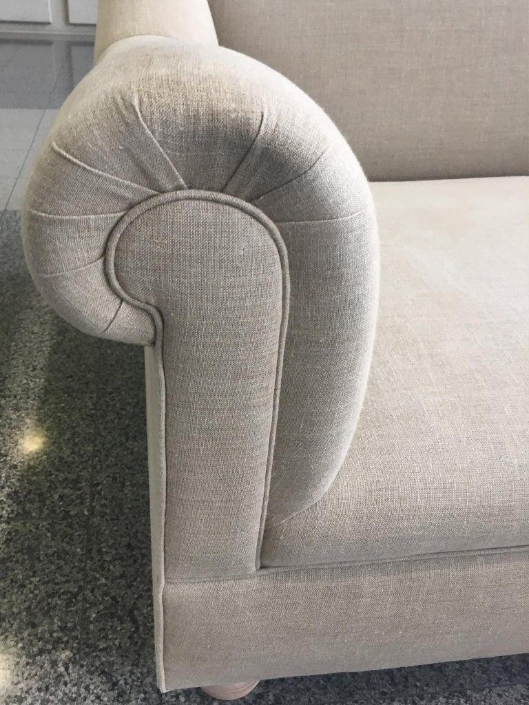 Axel Vervoordt Custom Sofa in Belgian Linen 7