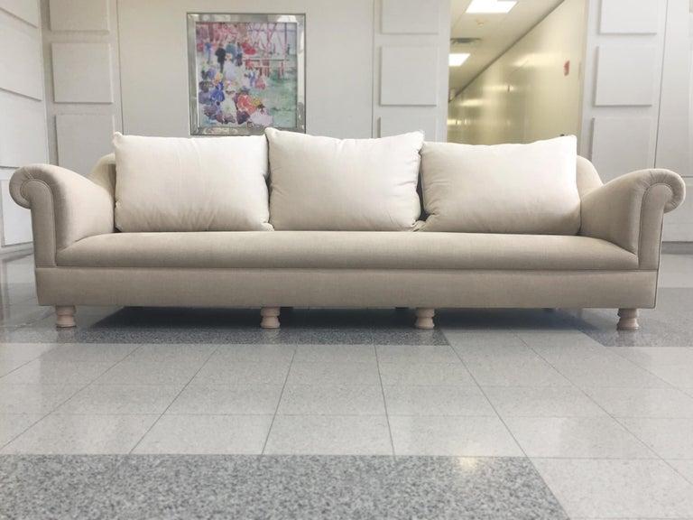 Axel Vervoordt Custom Sofa in Belgian Linen 5