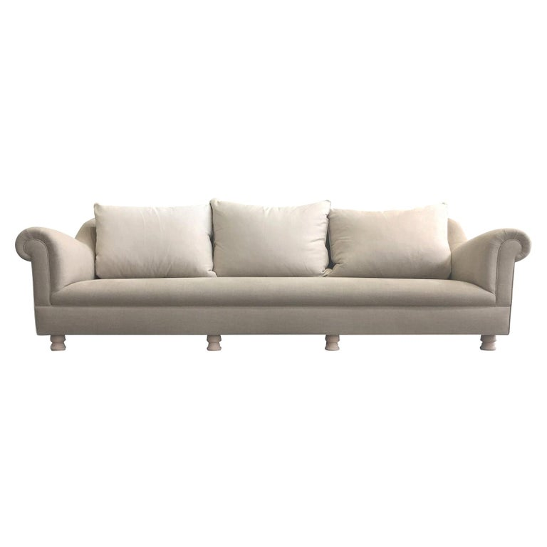 Axel Vervoordt Custom Sofa in Belgian Linen