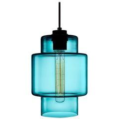 Axia Condesa Handblown Modern Glass Pendant Light, Made in the USA