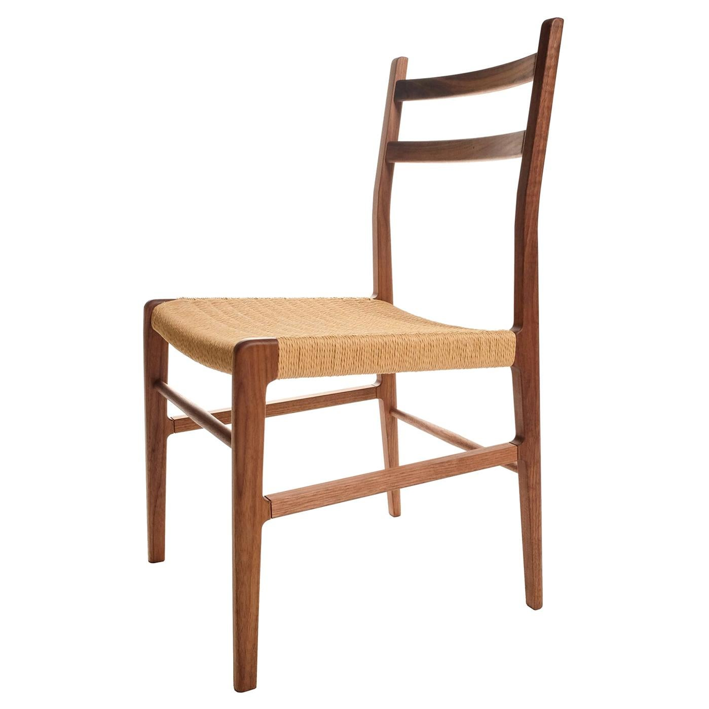 Axis Dining Chair in Walnut and Danish Cord