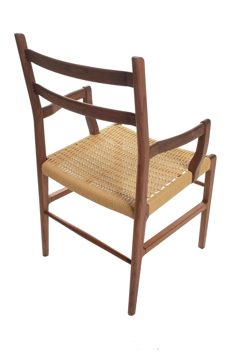 Axis Dining Armchair or Side Chair in Walnut and Danish Cord For Sale 2