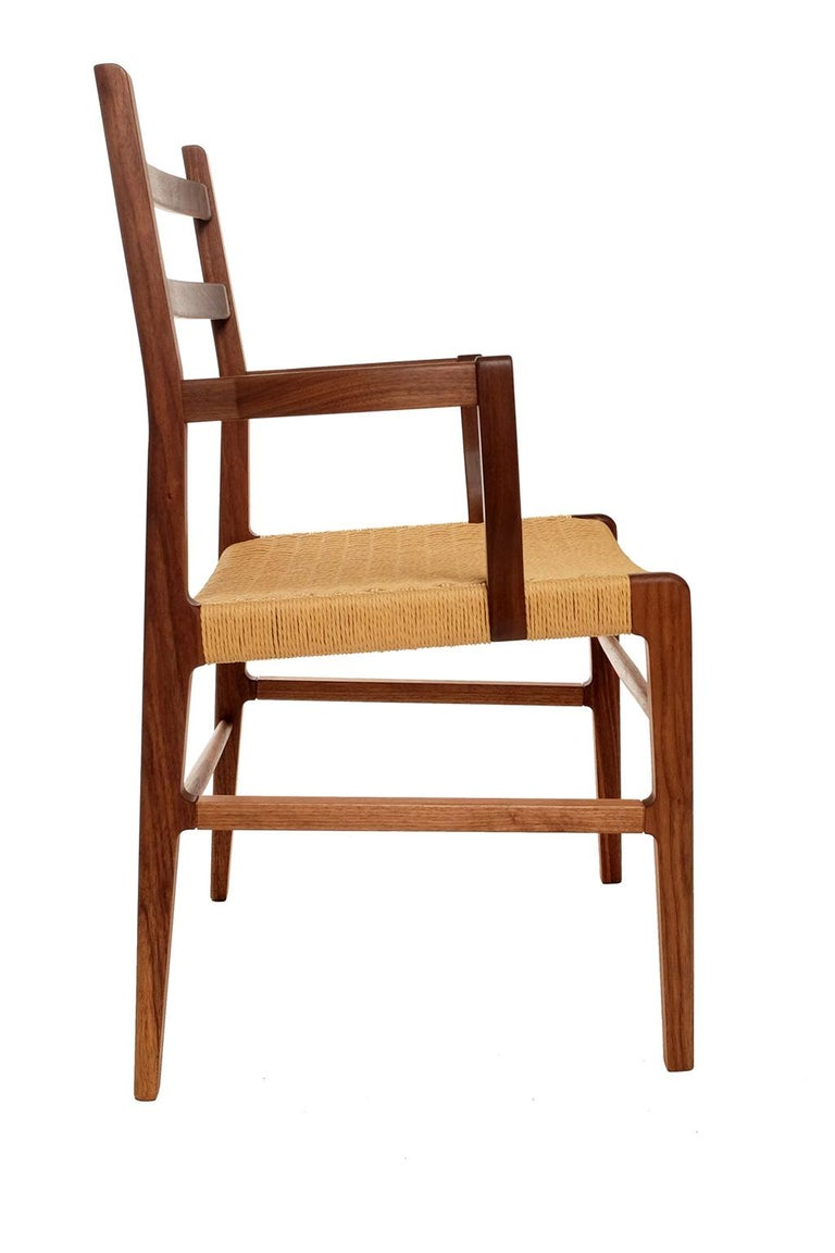 Axis Dining Armchair or Side Chair in Walnut and Danish Cord In New Condition For Sale In Brooklyn, NY