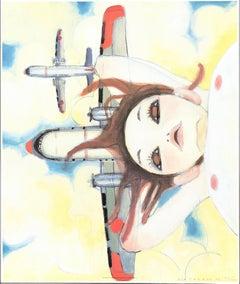Fallin'-Manma-Air. Offset print by Aya Takano