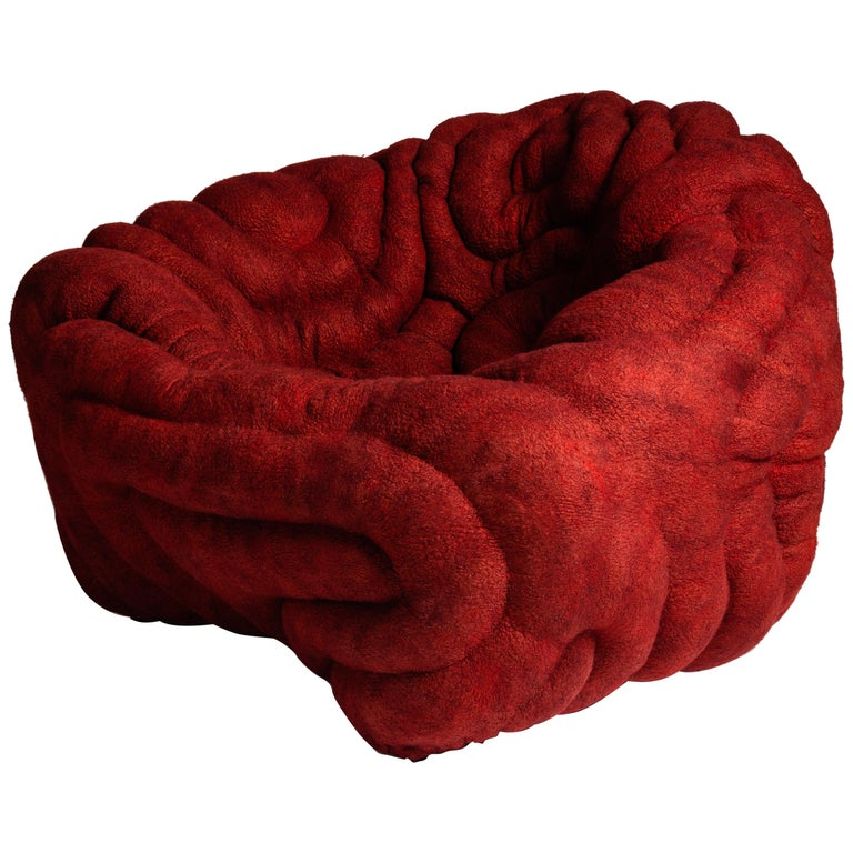 Ayala Serfaty Dito Rosso armchair, 2018, offered by Maison Gerard