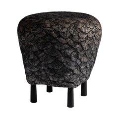 """Ayala Serfaty, """"Rapa Series: Shastool Muare"""" Handmade Footstool, Israel, 2019"""