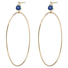 Ayda Hoops, Yellow Gold and Sapphire Hoops