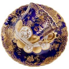 Aynsley Porcelain Demitasse Cup, Art Nouveau Cobalt Blue with Gilt, 1891-1912