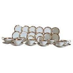 Aynsley English Bone China Tea Set Empress Patten Cobalt