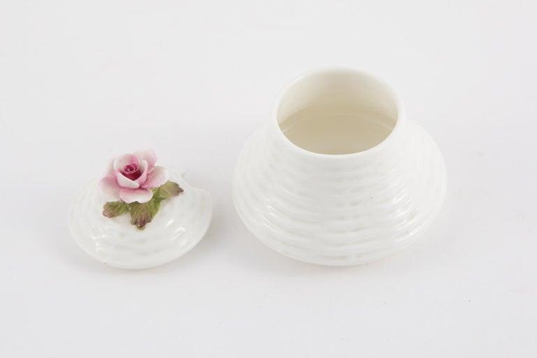 Gray Aynsley Porcelain Pot For Sale