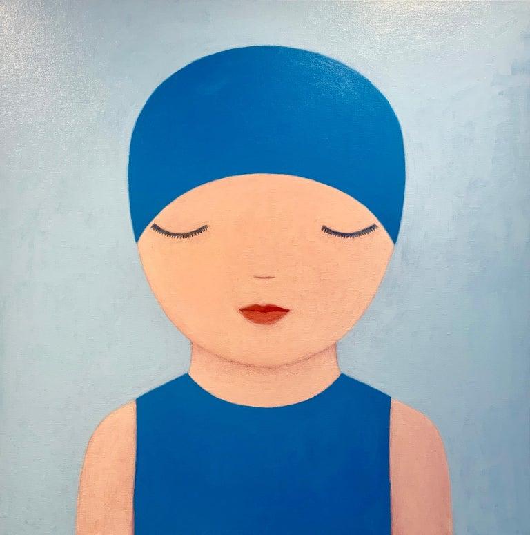 Ayse Wilson Figurative Painting - Summer Swimmer