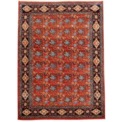 Azeri Turkish Vintage Rug with Vegetable Dyes