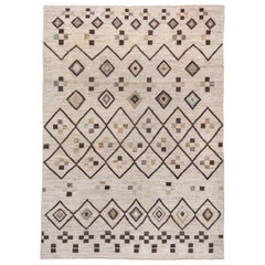 Azilal Style Moroccan Carpet, Medium Soft Pile