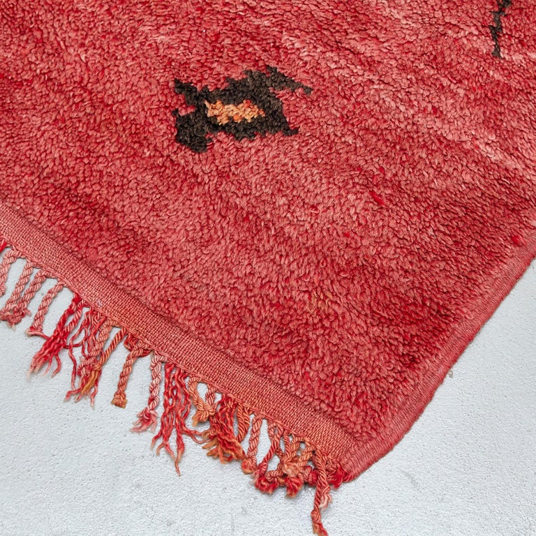 Rug designed by unknown made in Morocco  Hand knotted wool  Measurements: 172 x 115.