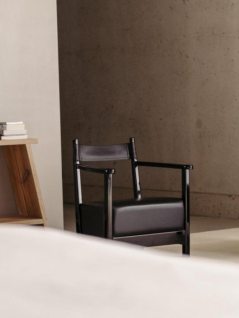 Azucena Chinotto High Small Armchair by Luigi Caccia Dominioni In New Condition For Sale In Novedrate, IT