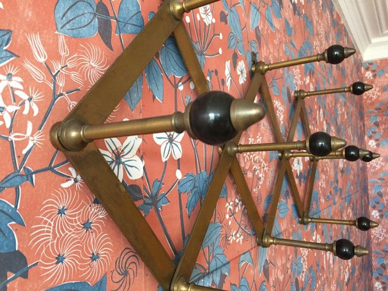 Italian Azucena Coat Hanger in Polished Brass and Bakelit by Luigi Dominioni, Italy