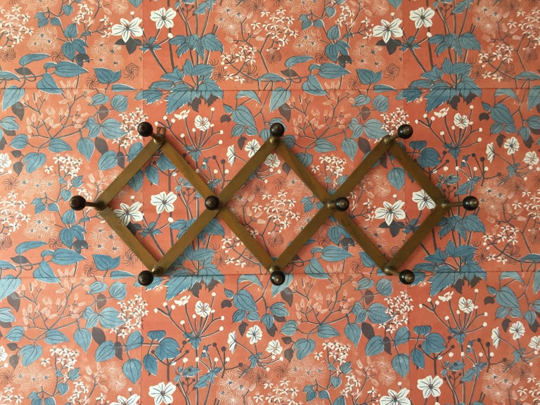 Mid-20th Century Azucena Coat Hanger in Polished Brass and Bakelit by Luigi Dominioni, Italy