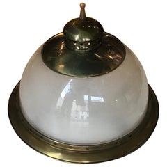 Azucena Luigi Caccia Dominioni Ceiling Brass Glass, 1955 Italy