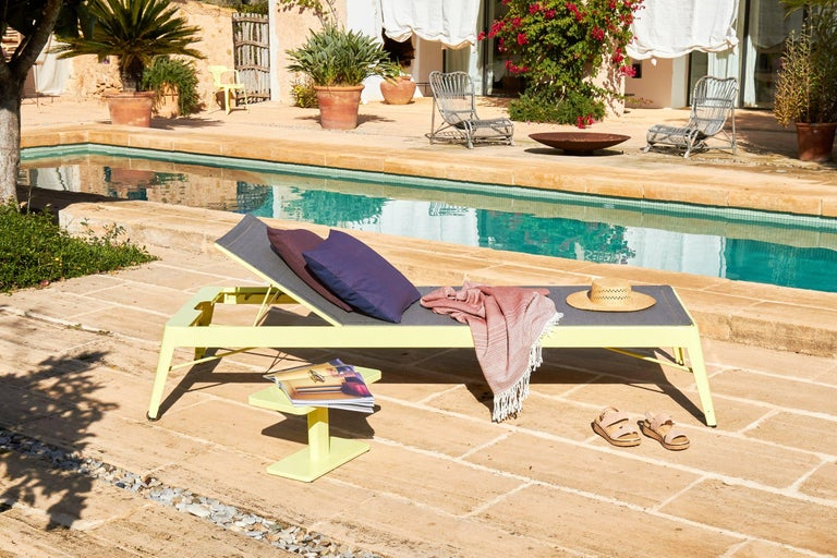 Steel Azur Sunbed in Essential Colors by Frederic Gaunet & Tolix For Sale