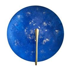 'AZURE' Blue Patina, 18-Carat Gold/ Brass Contemporary Wall Light Sconce, Pair