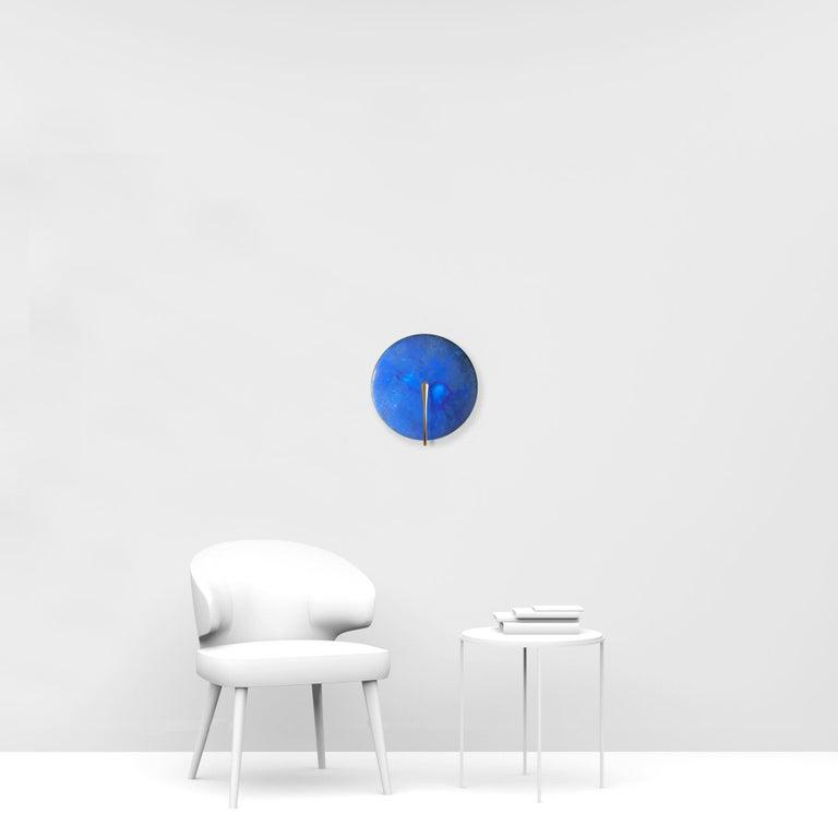 'AZURE' Indigo Patina Brass Contemporary Wall Light For Sale 2