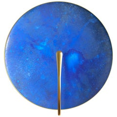 'AZURE' Indigo Blue Patina Brass Contemporary Wall Light, Sconce