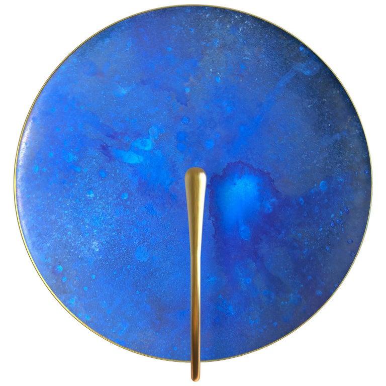 'AZURE' Indigo Patina Brass Contemporary Wall Light For Sale