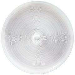 Azure, White & Clear Filigrana Murano Glass Centerpiece Venini Attributed, 1990