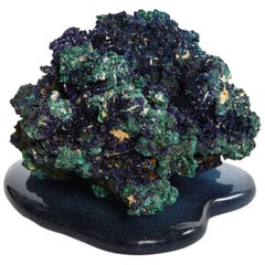Azurite on Cast Glass Base by Studio Greytak