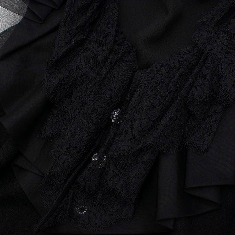 Women's Azzaro Gazette Wool Backless Lace Dress - Size US 6