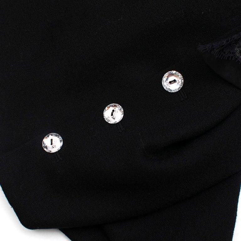 Azzaro Gazette Wool Backless Lace Dress - Size US 6 2