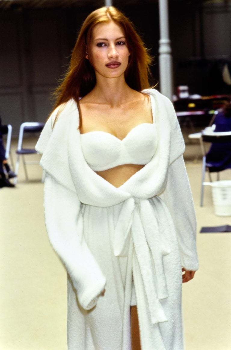 Azzedine Alaia black chenille padded evening bra, fw 1992 For Sale 2