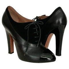 Azzedine Alaïa Black Contrast Panel Lace-up Ankle Boots