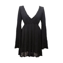 Azzedine Alaia Black Knit Dress Top 1992