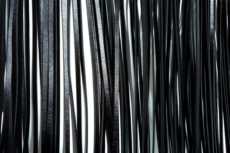 Azzedine Alaia black leather fringed corset belt For Sale 2
