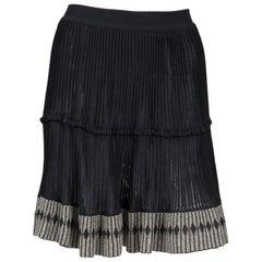 Azzedine Alaia Black Pleated Skate Skirt