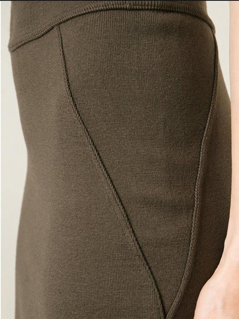 Women's  Azzedine Alaia Brown Pencil Skirt For Sale