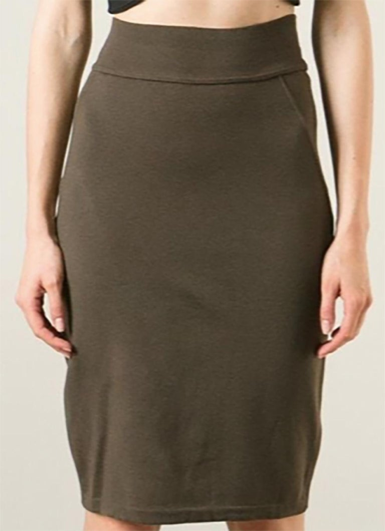 Azzedine Alaia Brown Pencil Skirt For Sale 1
