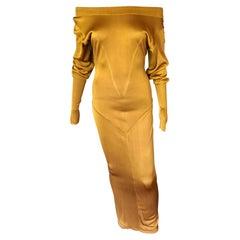 Azzedine Alaïa c. 1990's Vintage Semi-Sheer Gown Maxi Dress