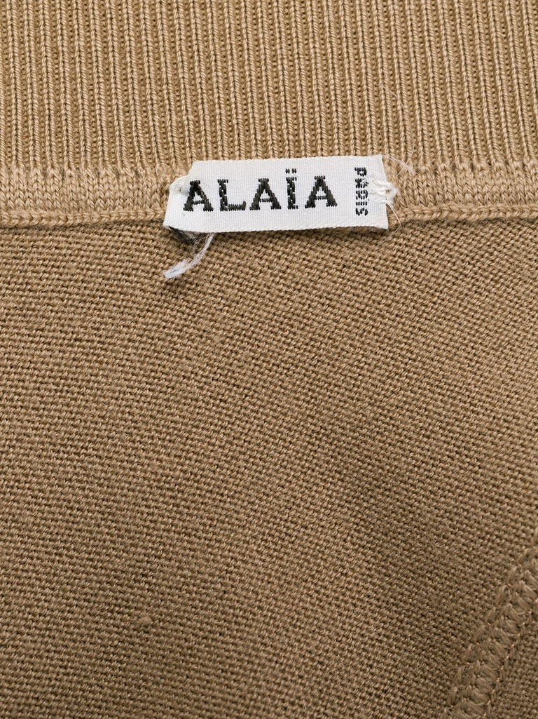 Azzedine Alaia Camel Wool Skate Skirt For Sale 1