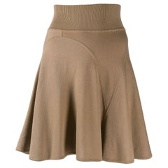 Azzedine Alaia Camel Wool Skate Skirt