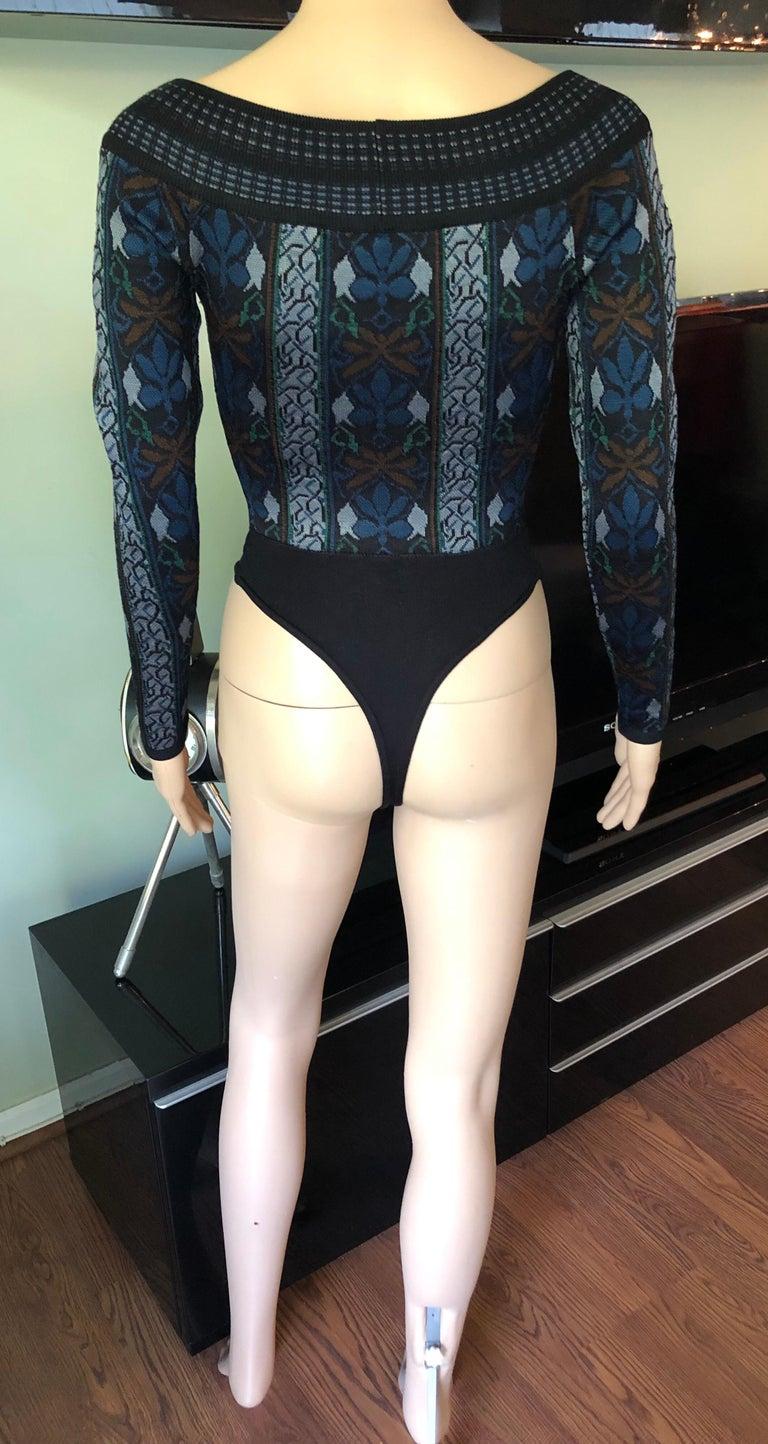 Women's Azzedine Alaia F/W 1990 Vintage Knit Bodysuit For Sale