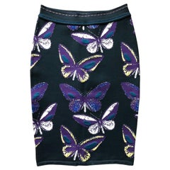 Azzedine Alaia F/W 1991 Vintage Butterfly Fitted Skirt