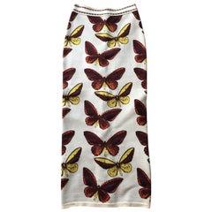 Azzedine Alaia F/W 1991 Vintage Butterfly Long Skirt