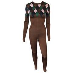 Azzedine Alaia F/W 1992 Vintage Bodycon Playsuit Catsuit Jumpsuit