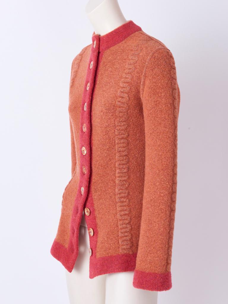Orange Azzedine Alaia Fitted Cardigan For Sale