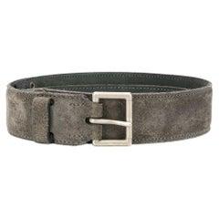 Azzedine Alaia Grey Suede Leather Belt
