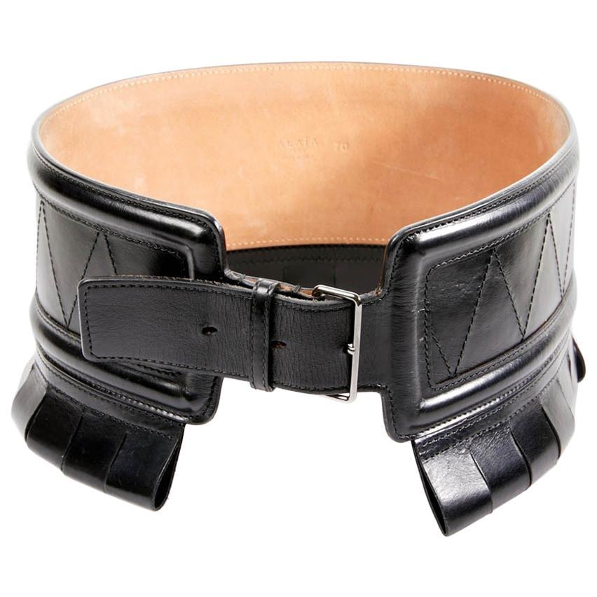 Azzedine Alaia Iconic Black Corset Belt 1990