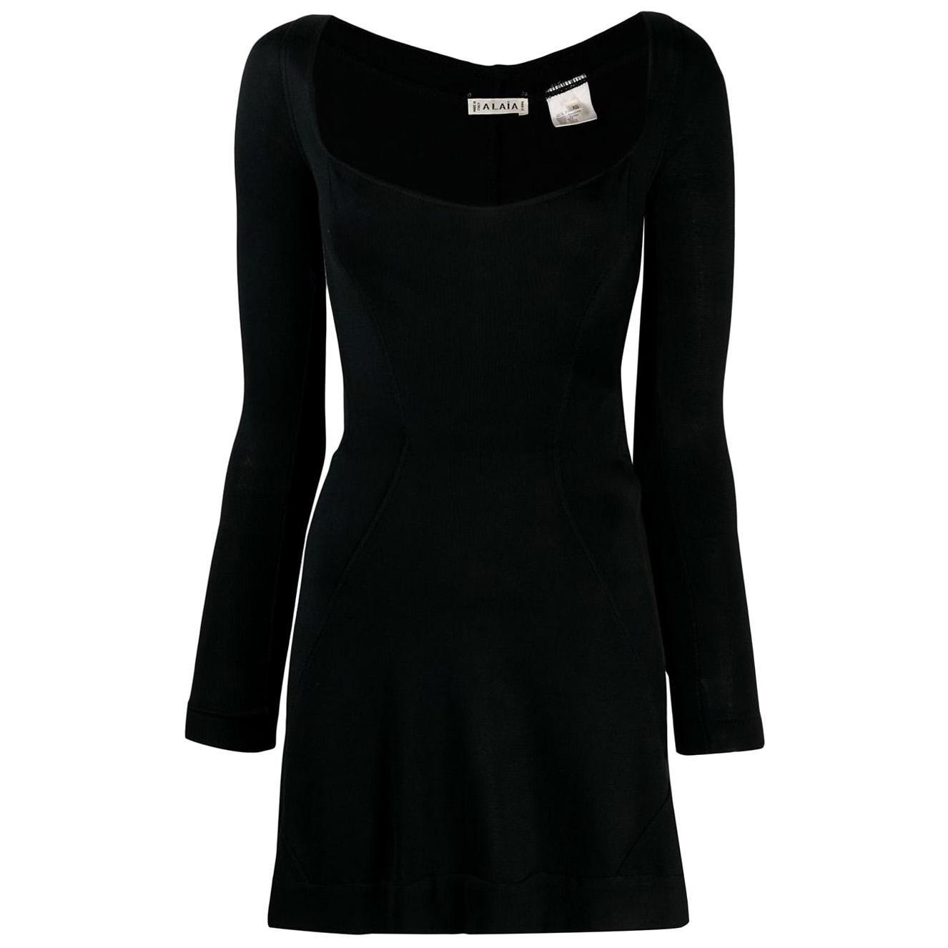 Azzedine Alaia Iconic Black Mini Dress