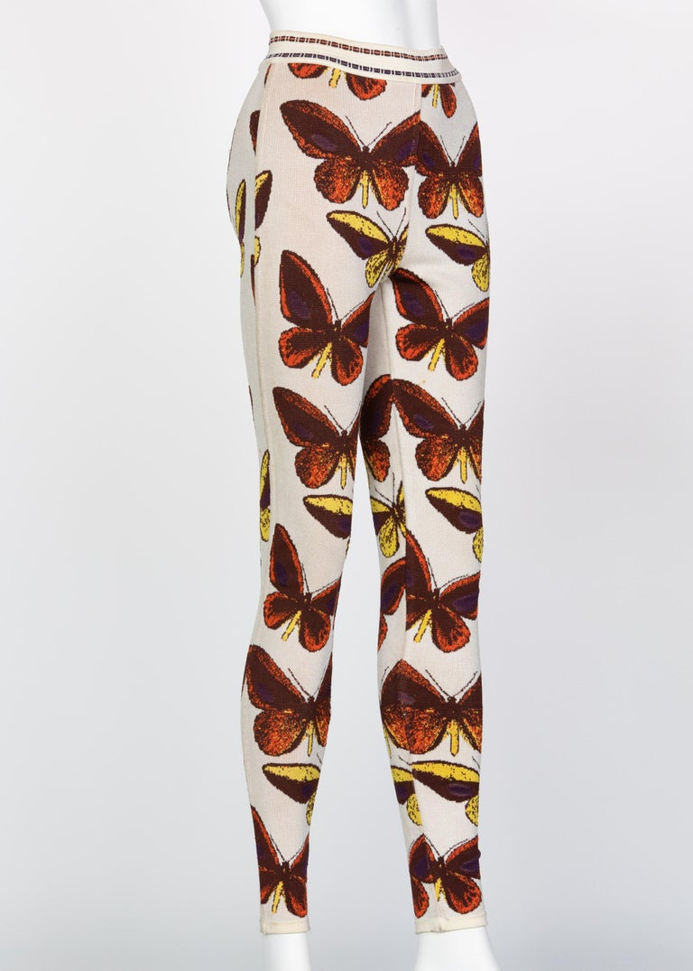 Azzedine Alaia Iconic Runway Butterfly Leggings, 1991 In Good Condition For Sale In Boca Raton, FL